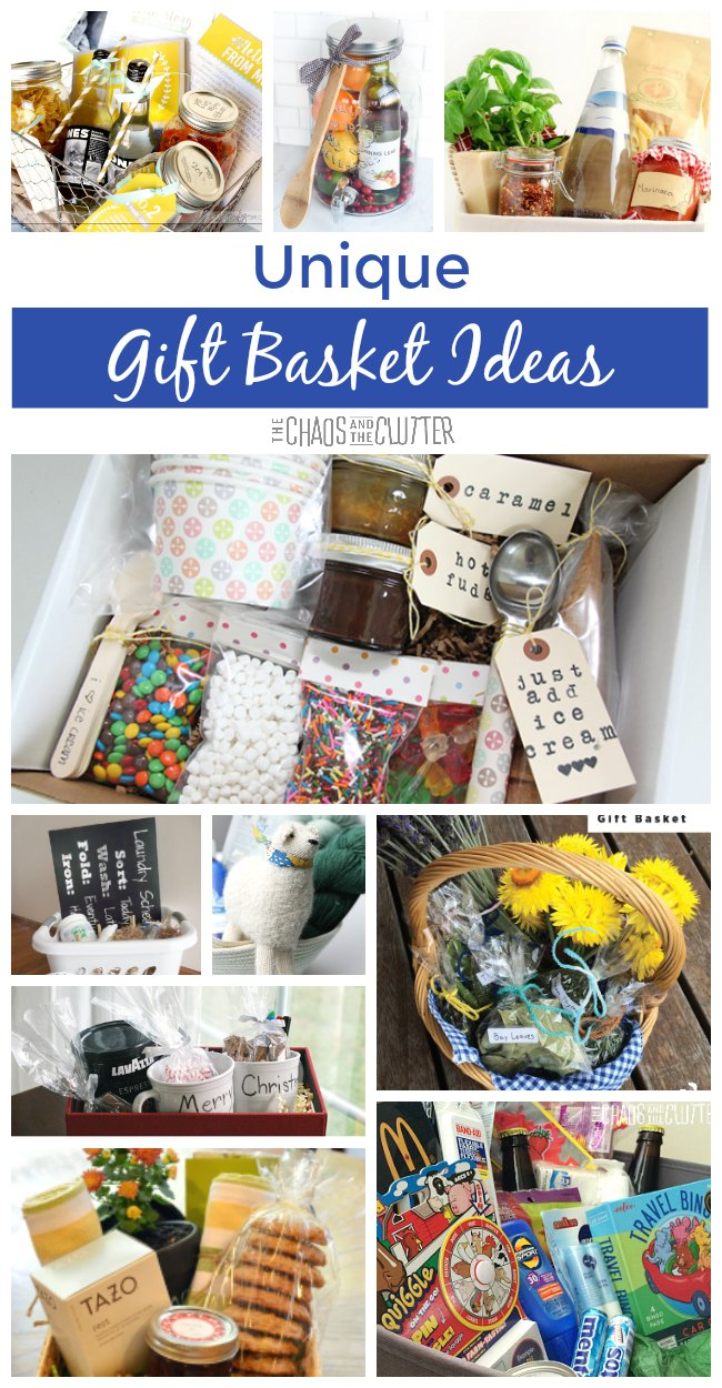 Unique gift basket ideas these unique gift basket ideas are a wonderful idea for bridal showers or weddings raffles negle Images