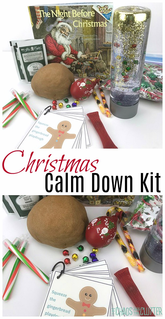 This Christmas Calm Down Kit is full of suggestions and tools to help lower your child's anxiety over the holidays. #parenting #specialneedsparenting #anxiety