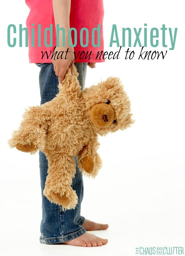Childhood Anxiety - what you need to know to help your child #parenting #anxiety