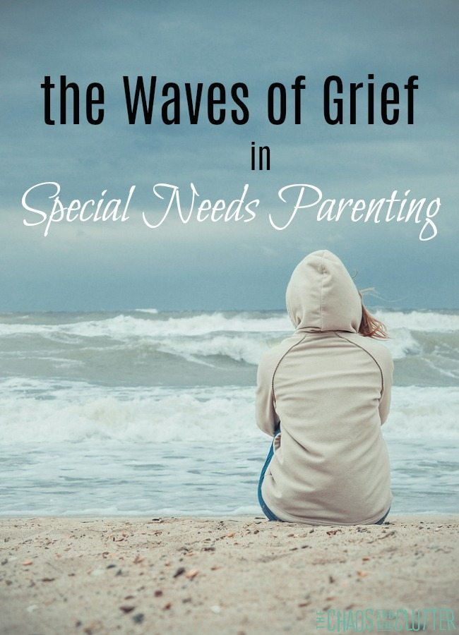 The waves of grief that can come in parenting a child with special needs #parentingspecialneeds #parenting #specialneeds