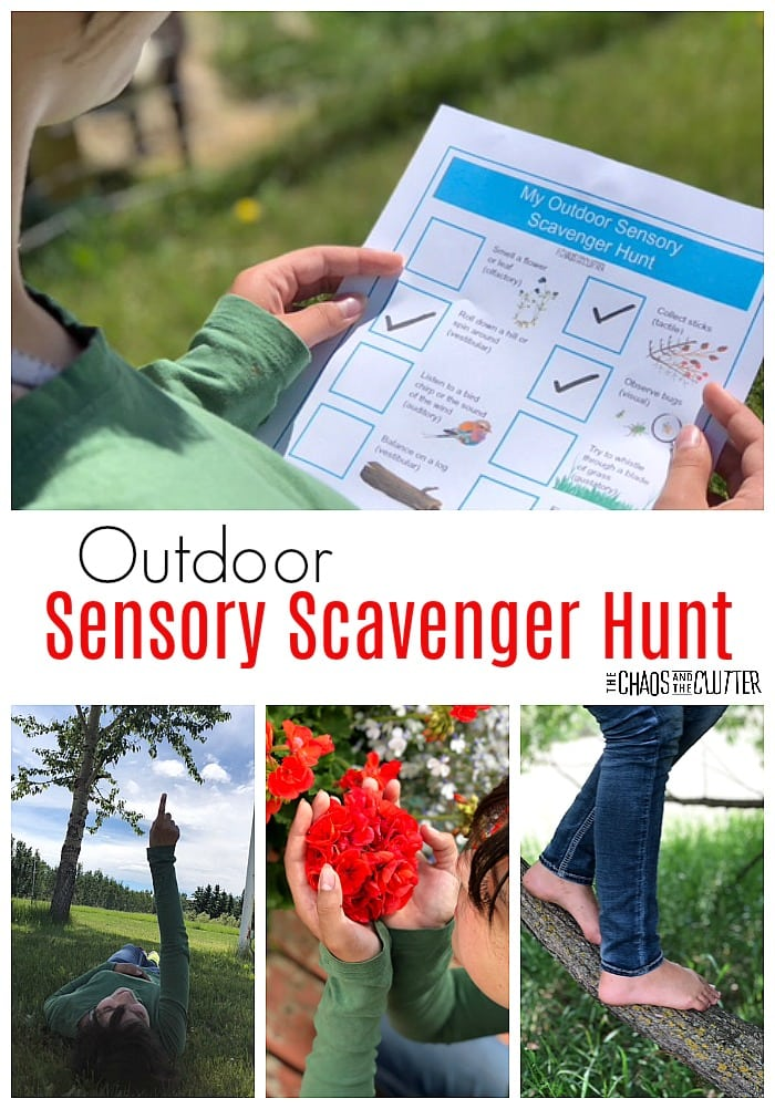Outdoor Sensory Scavenger Hunt #sensory #sensoryplay #sensoryprocessingexplained