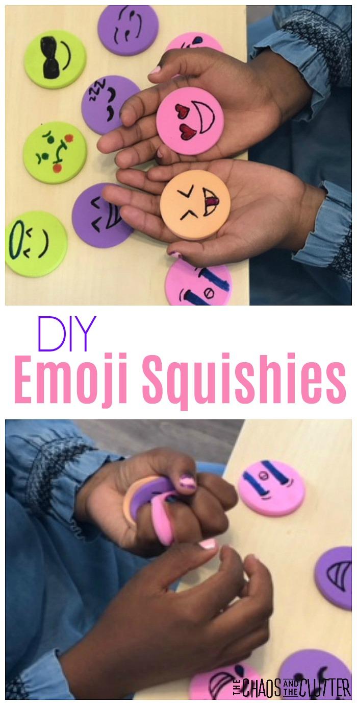 DIY Emoji Squishies #sensorytoys #sensoryplay #emoji #DIYkids