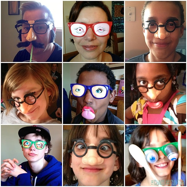 silly glasses collage
