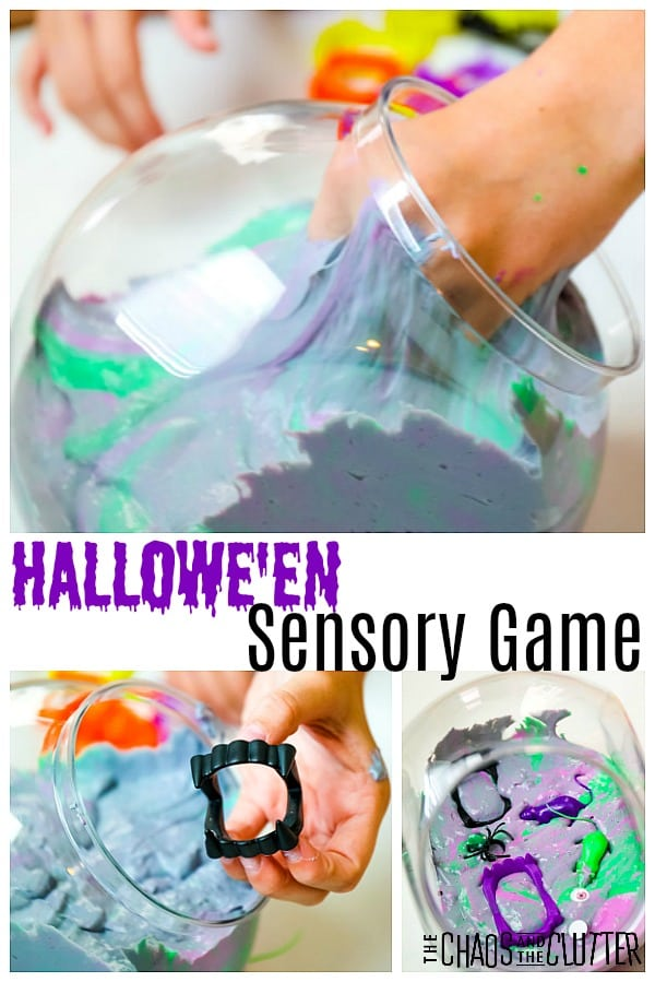 Hallowe'en Sensory Game #sensoryplay #halloween #forkids #slimeactivities