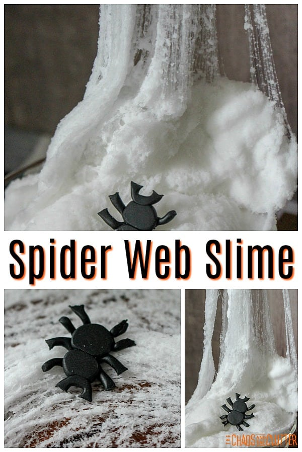 Spider Web Slime #sensoryplay #halloweenslime #slimerecipes