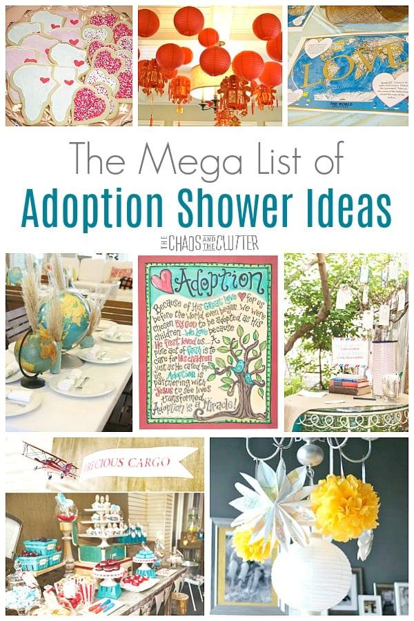 The Mega List Of Adoption Shower Ideas