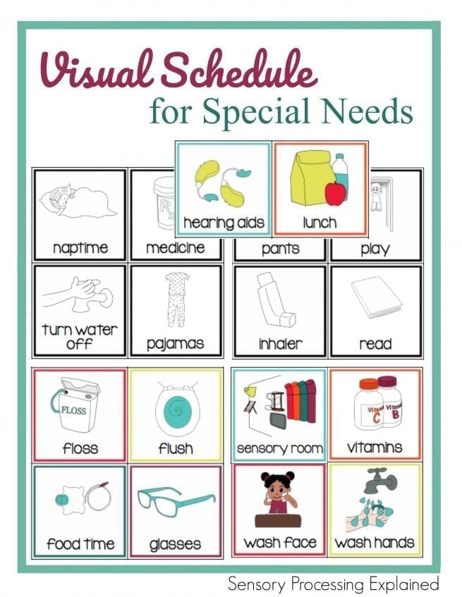 image about Printable Visual Schedule Pictures identify Printable Visible Timetable for Exceptional Requirements