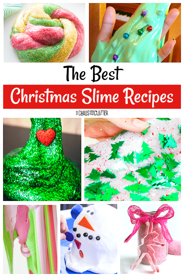 The Best Christmas Slime Recipes around #slime #slimerecipes #Christmasslime #sensoryplay