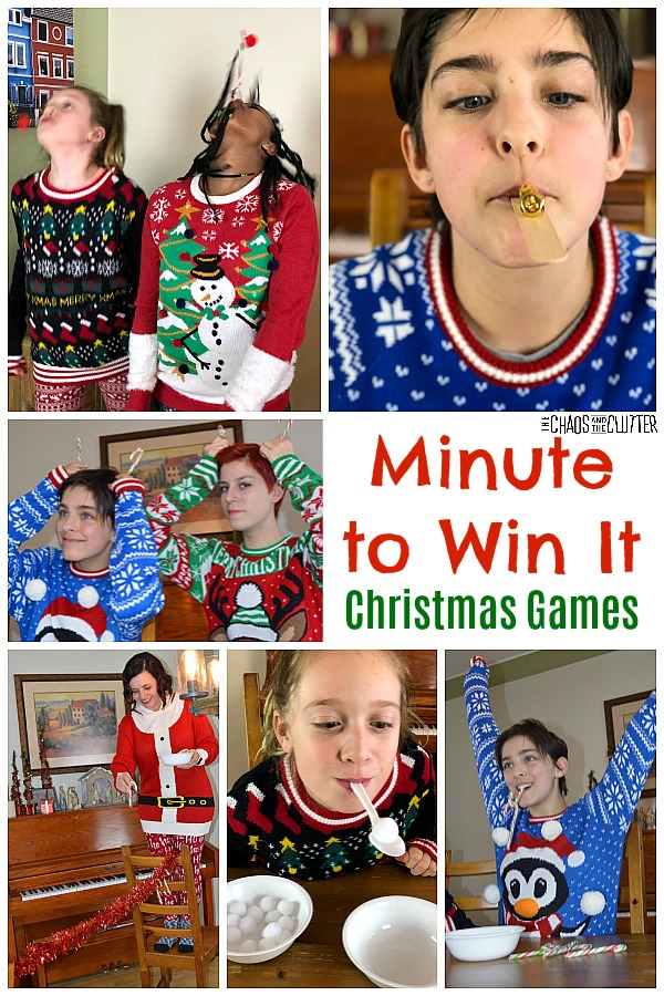 Minute to Win It Christmas Games #minutetowinit #christmasgames #christmas #minutetowinitchristmas #familyfun