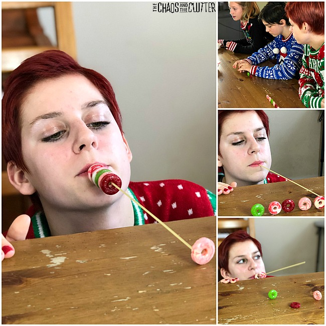 Peppermint Twist Christmas Minute to Win It game