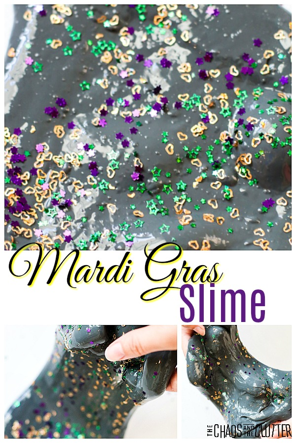 Mardi Gras Slime #slimerecipes #slime #sensoryplay #sensoryactivities