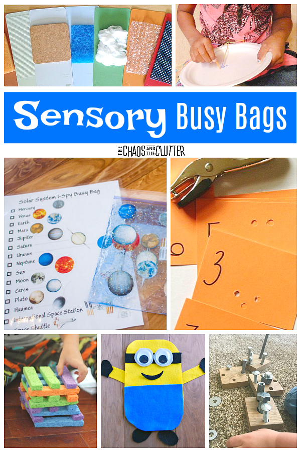 These sensory busy bags will enhance your child's learning and allow them to have fun in the process #sensoryplay #sensory #busybags #kidsactivities