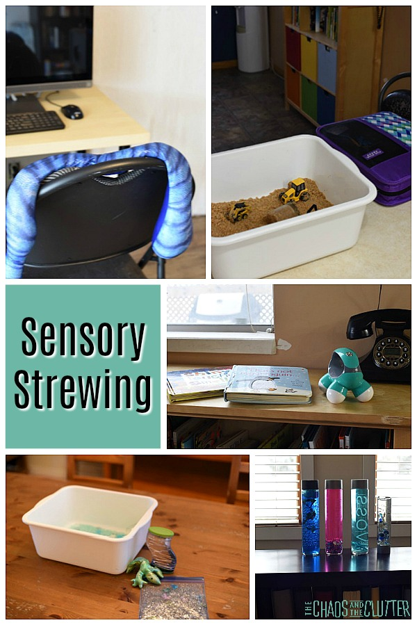Sensory Strewing is a great way to help kids discover their own sensory preferences and meet their sensory needs. #sensory #spd #sensoryprocessingexplained #sensoryprocessingdisorder #specialneedsparenting