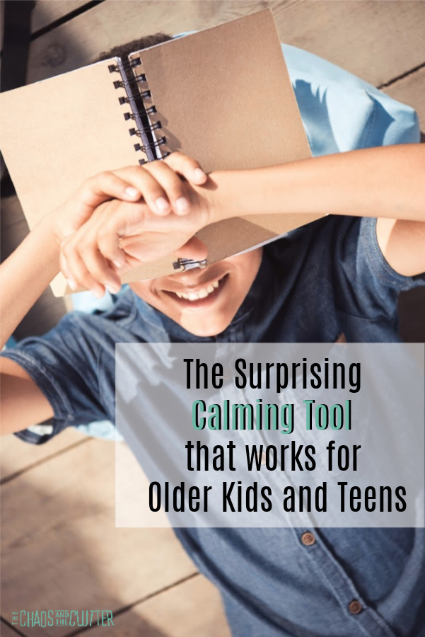 The Surprising Calming Tool that works for Older Kids and Teens #parenting #parentingtips #kbn