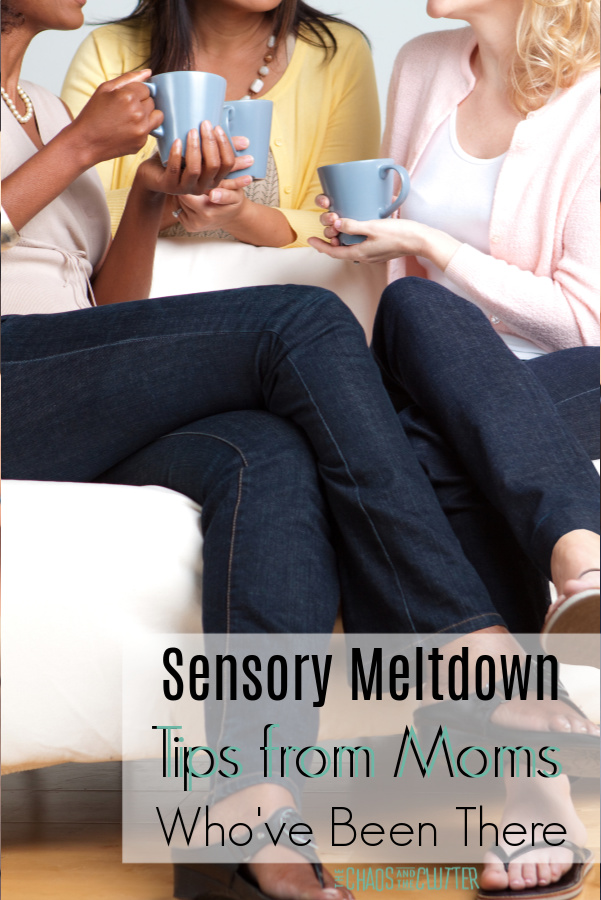 Sensory Meltdown Tips from Moms Who've Actually Been There #sensory #SPD #sensoryprocessingdisorder #parentingtips #sensorymeltdowns