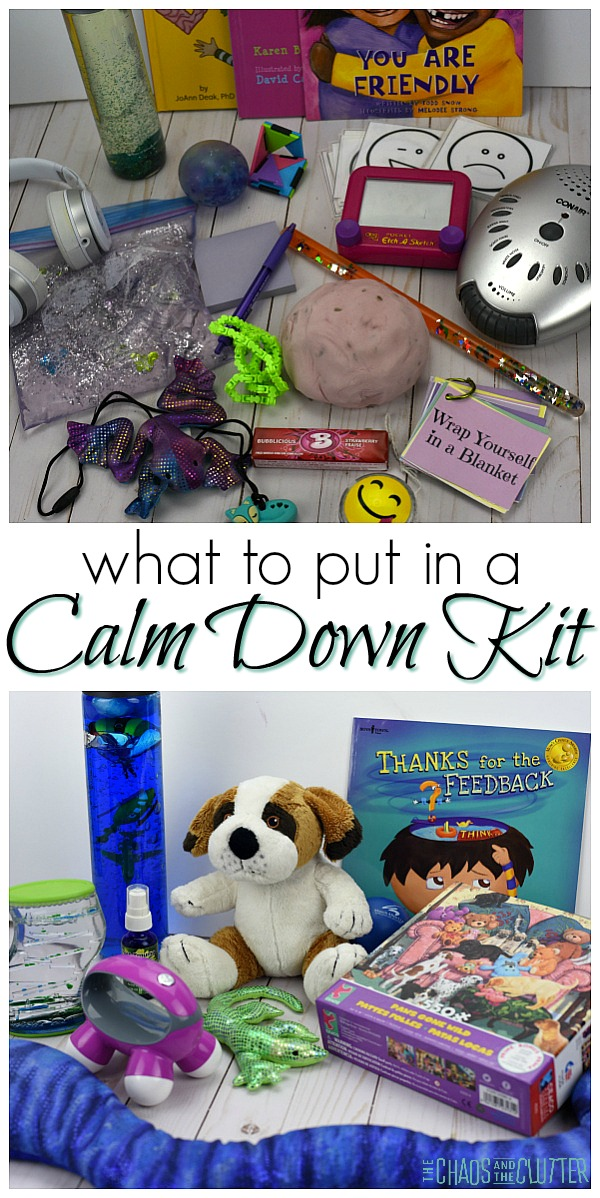 Items to put in a calm down kit for kids