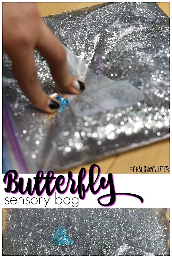 Butterfly Sensory Bag #sensorybags #sensoryplay #sensory #kidactivities