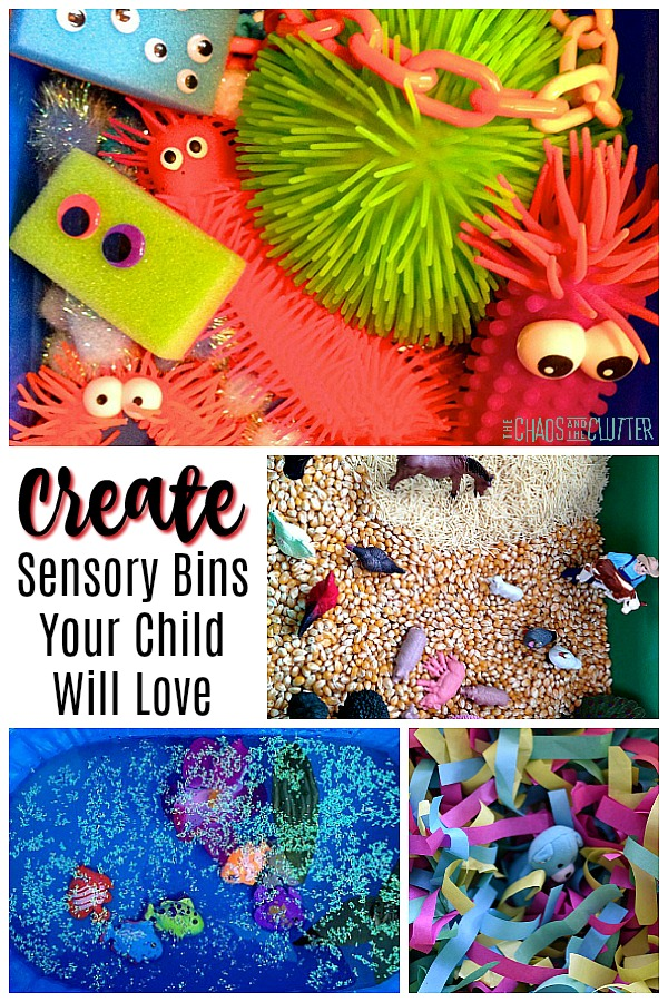 Create Sensory Bins Your Child Will Love #sensoryplay #sensory #kidactivities