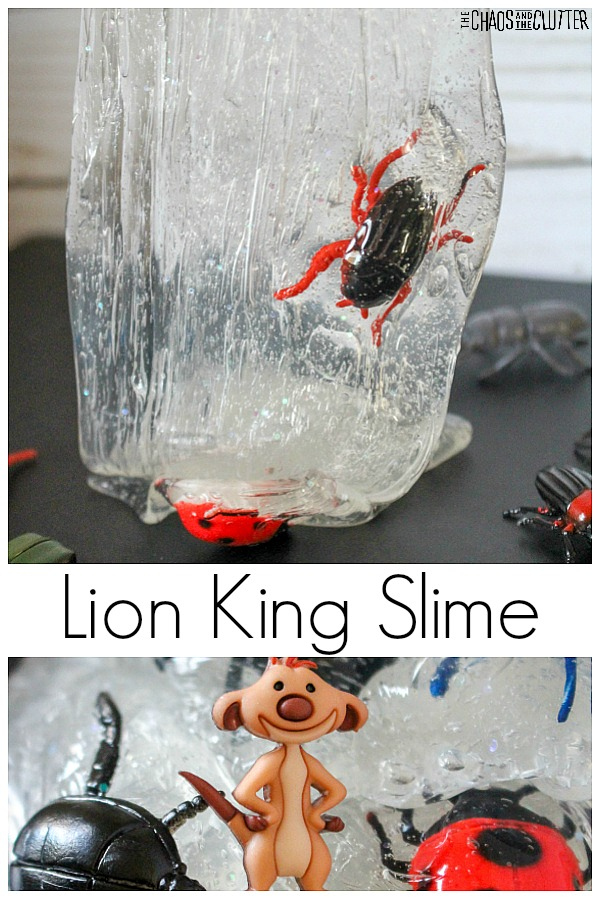 Lion King Slime with Timon the Meerkat #slime #slimerecipes #sensoryplay #lionking