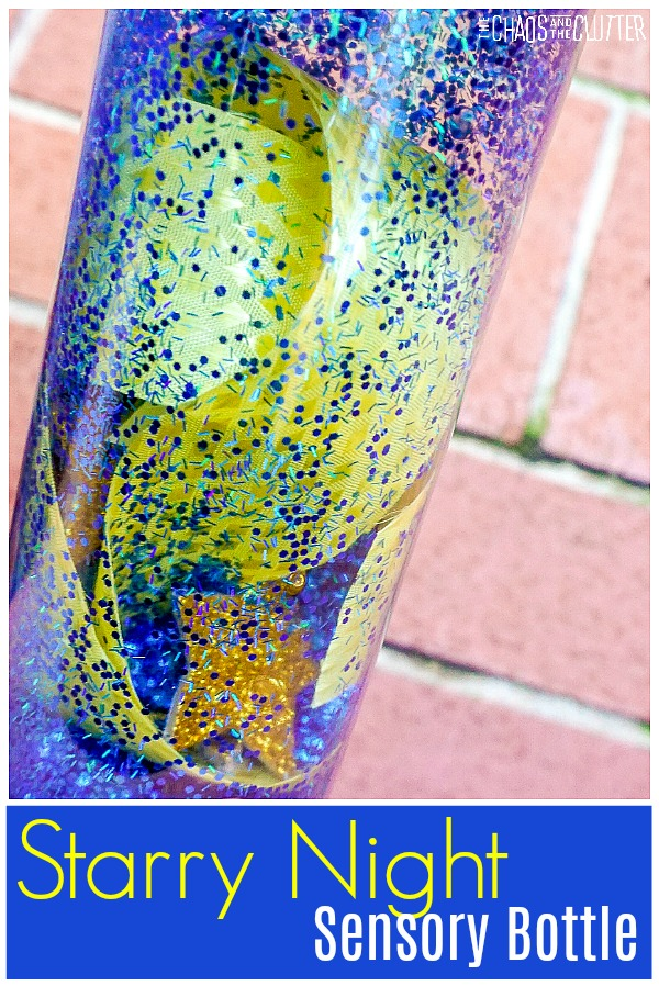 Van Gogh Inspired Starry Night Sensory Bottle #sensorybottle #sensoryplay #sensory #kidsactivities #starrynight