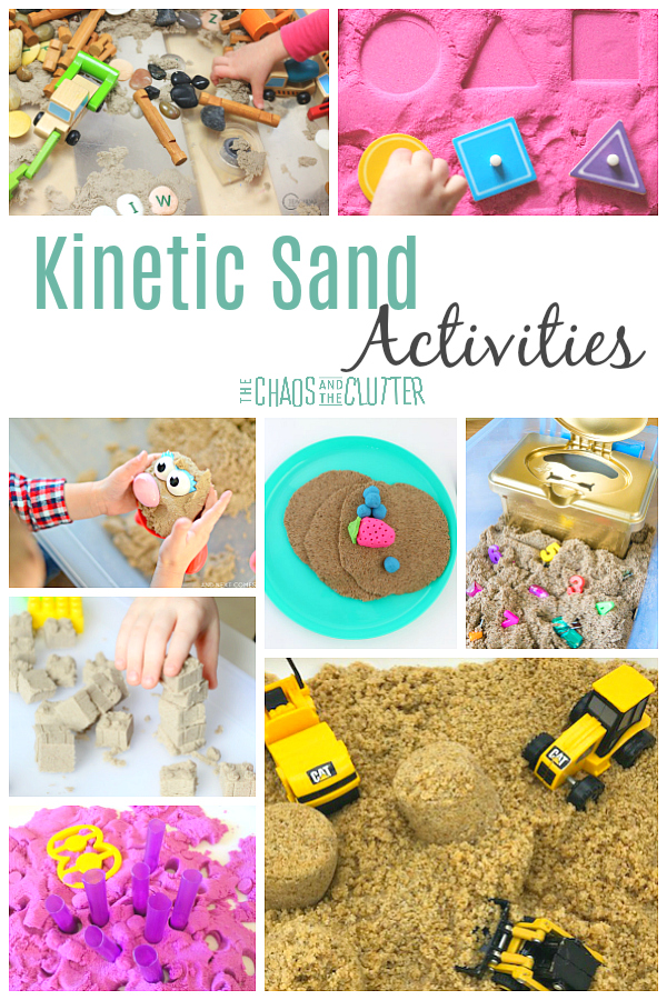 Kinetic Sand Activities for Sensory Play #kineticsand #sensoryplay #preschool #kidsactivities