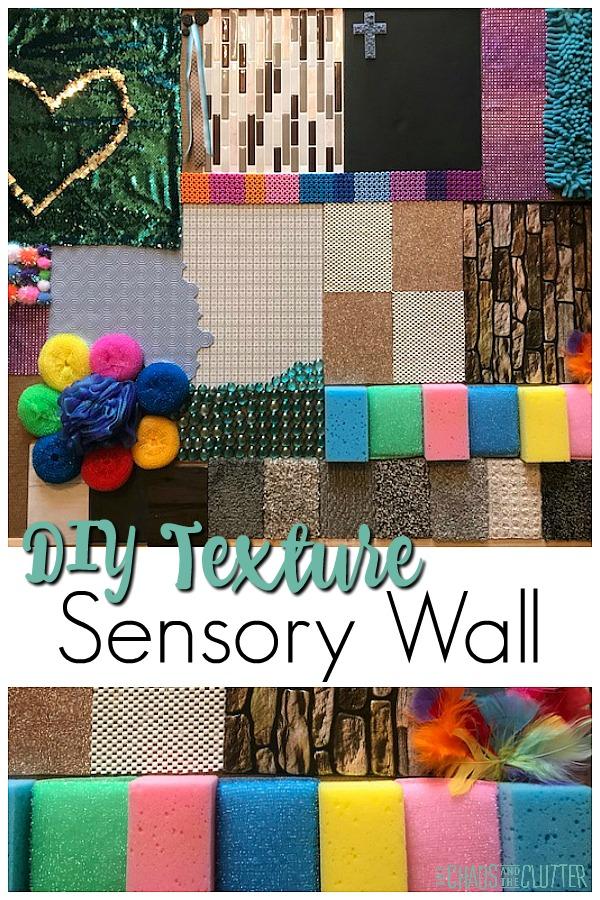 DIY Textured Sensory Wall #sensory #sensoryroom #sensoryprocessingdisorder #sensoryboard #texturewall #tactile