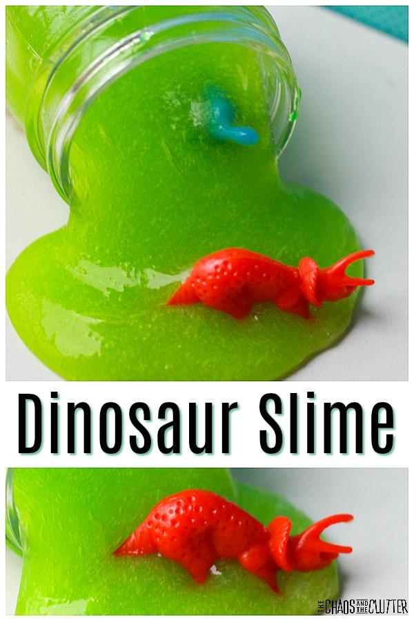 Dinosaur Slime #sensoryplay #slimerecipes #slime #sensory #kidactivities