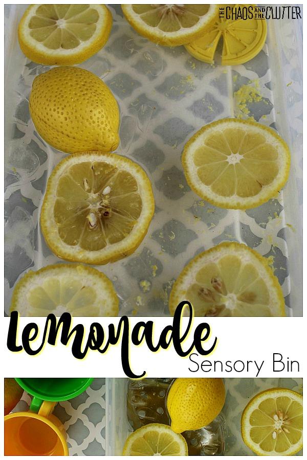 Lemonade Sensory Bin #sensorybins #sensorybin #sensoryplay #sensory #sensoryactivities