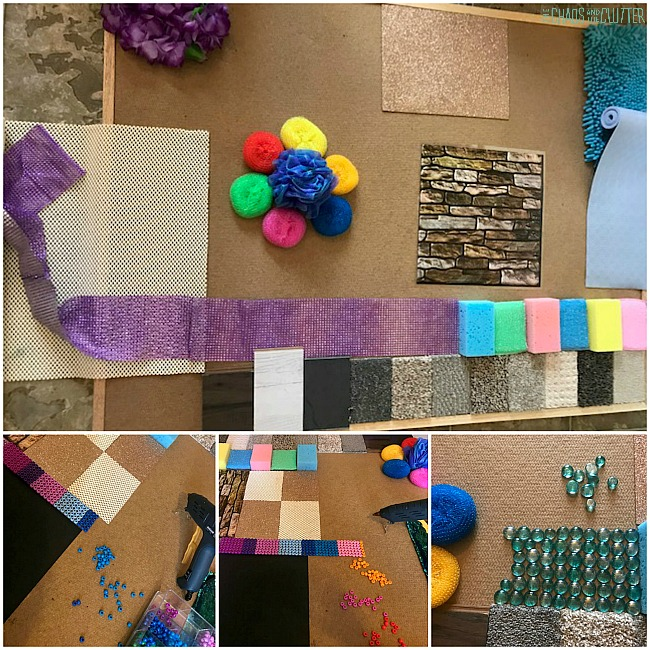 making a sensory wall