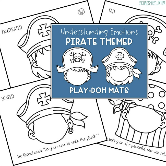 graphic about Pirates Printable Schedule known as Printable Pirate Themed Thoughts Playdough Mats