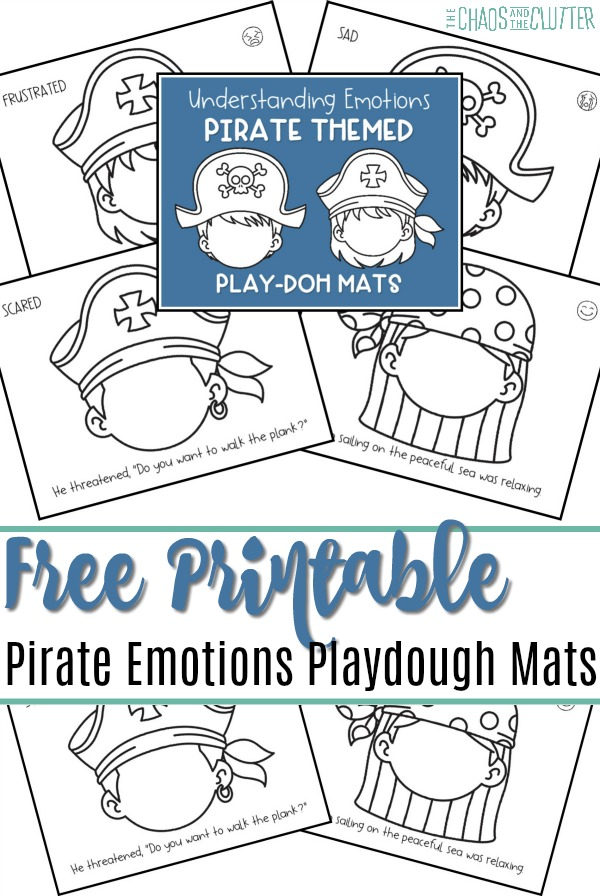 picture relating to Pirates Printable Schedule known as Printable Pirate Themed Feelings Playdough Mats