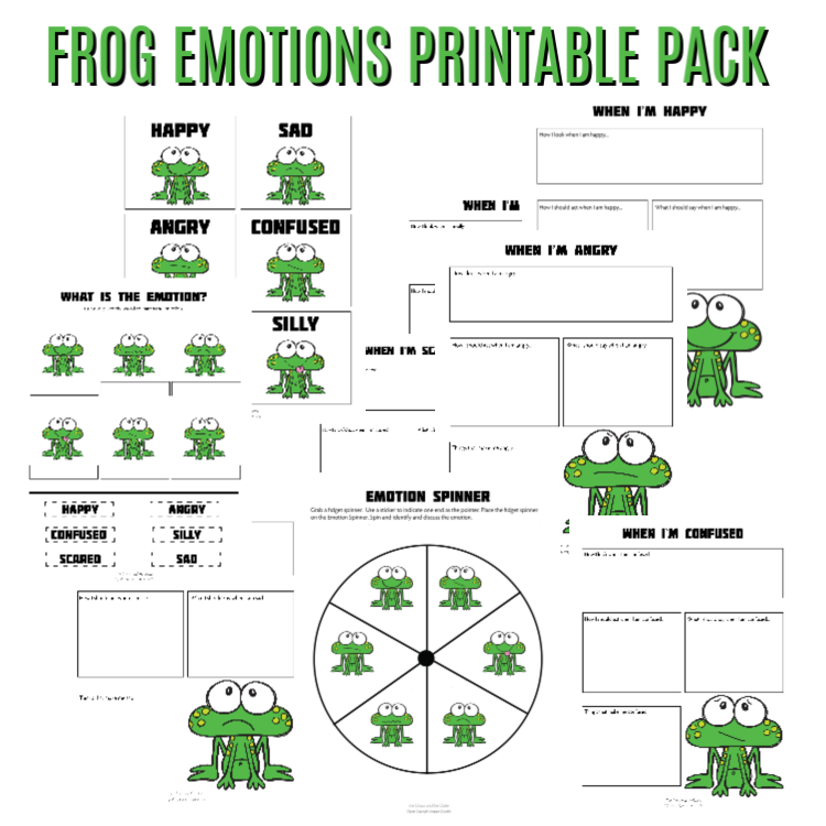 Frog Emotions Printable Pack