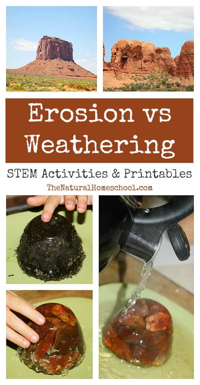 Erosion vs Weathering STEM Activities