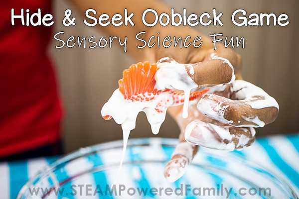 Hide and Seek Oobleck: Sense and Chemistry Science Challenge