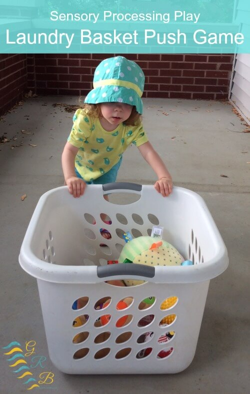 Sensory Processing Play: Laundry Basket Push Game