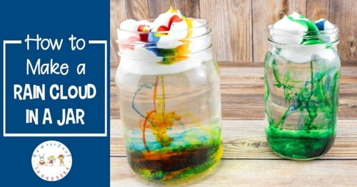 How to Make a Rain Cloud in a Jar