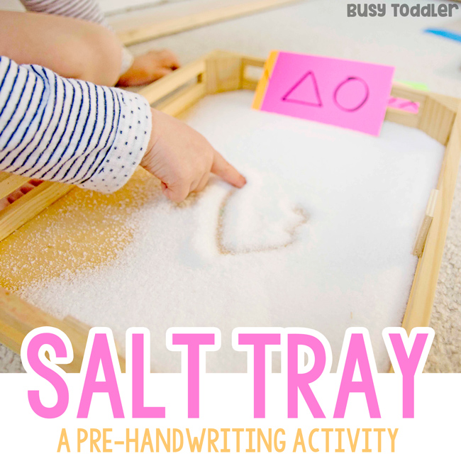 Salt Writing Tray Activity