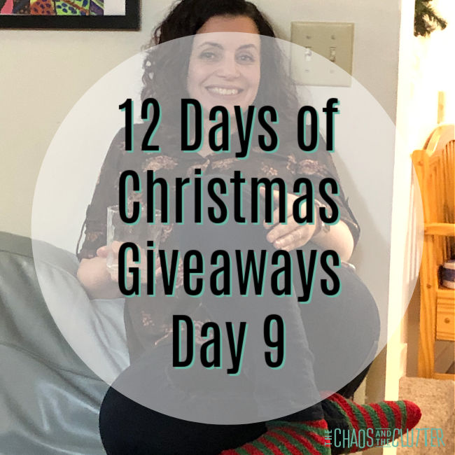 "circle overlay on photo of lady. Text reads ""12 Days of Christmas Giveaways Day 9"""