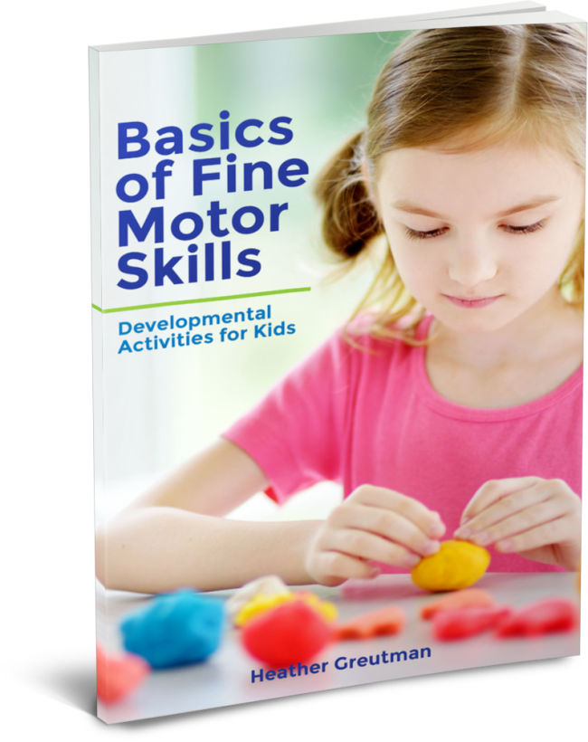 book cover of a girl in pink shirt playing with playdough